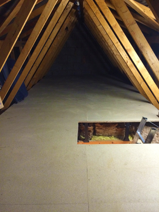 Raised Loft Boarding Flooring over insulation telford