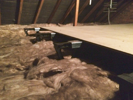 Loft Boarding over insulation